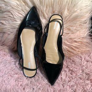 Express Black Flats Shoes 9